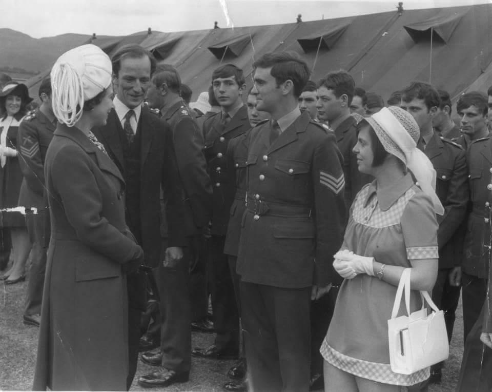 The Hunters met the Queen at Redford Barracks, Edinburgh in 1972.