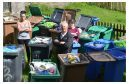 Mr O'Brien and local residents Patricia Kinloch (left) and Michelle Scrase are unhappy with the bins