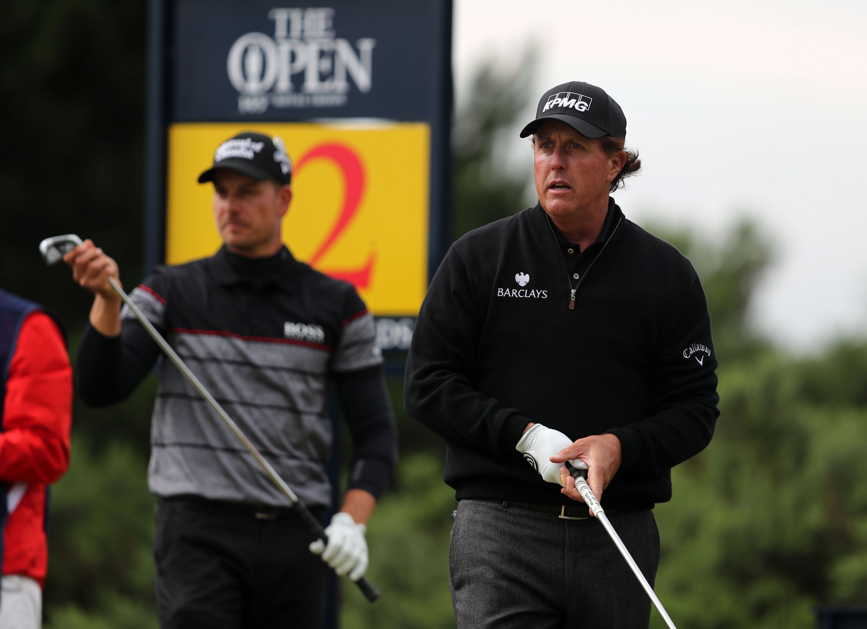 Henrik Stenson and Phil Mickelson during their epic final round duel at Royal Troon.