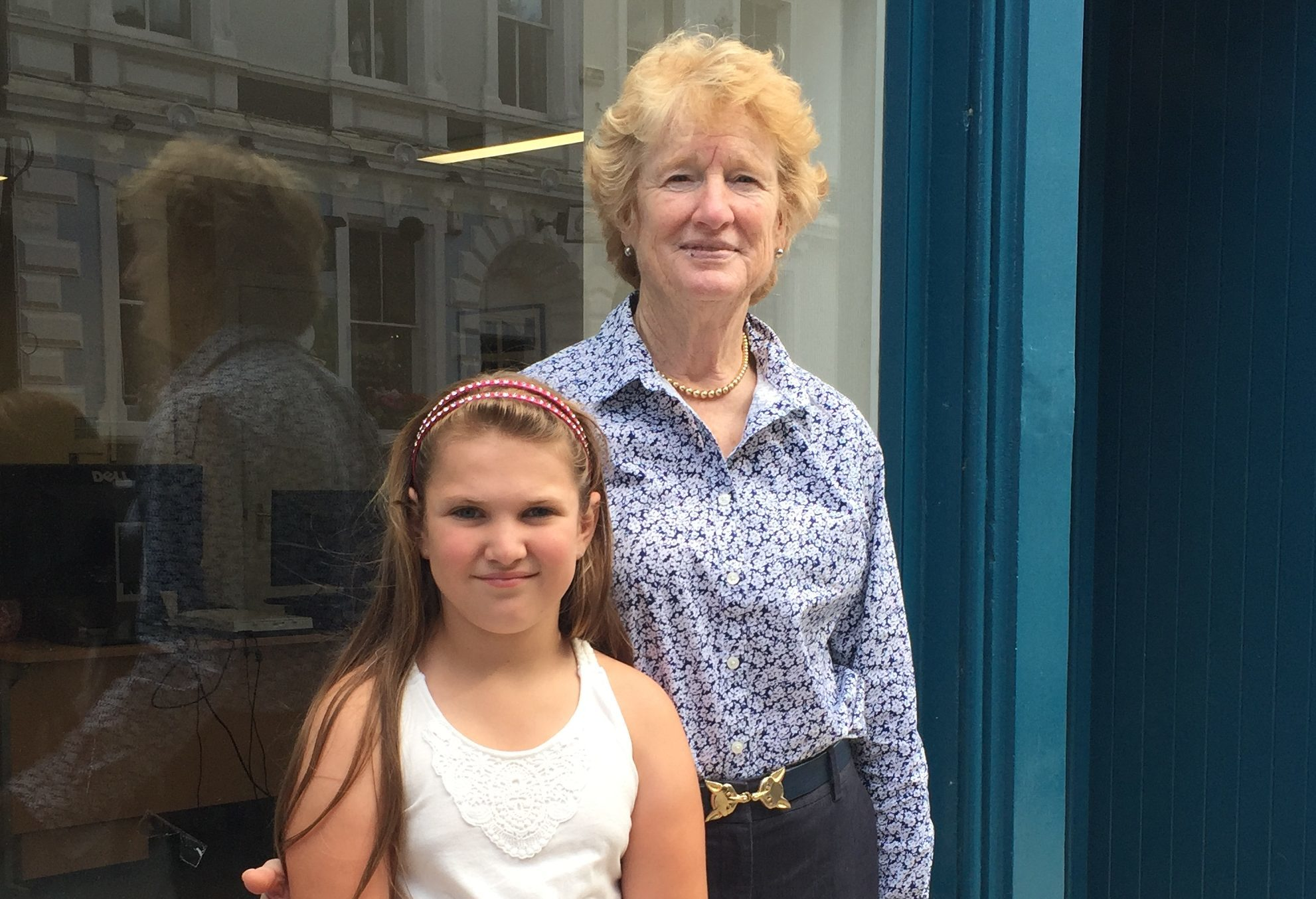 Betsey Reeves visited Aberfeldy with her granddaughter Lizzie.