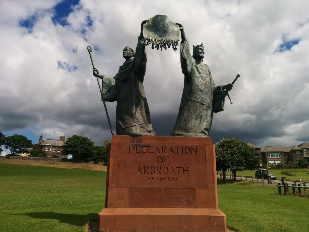 The Declaration is commemorated in Arbroath.