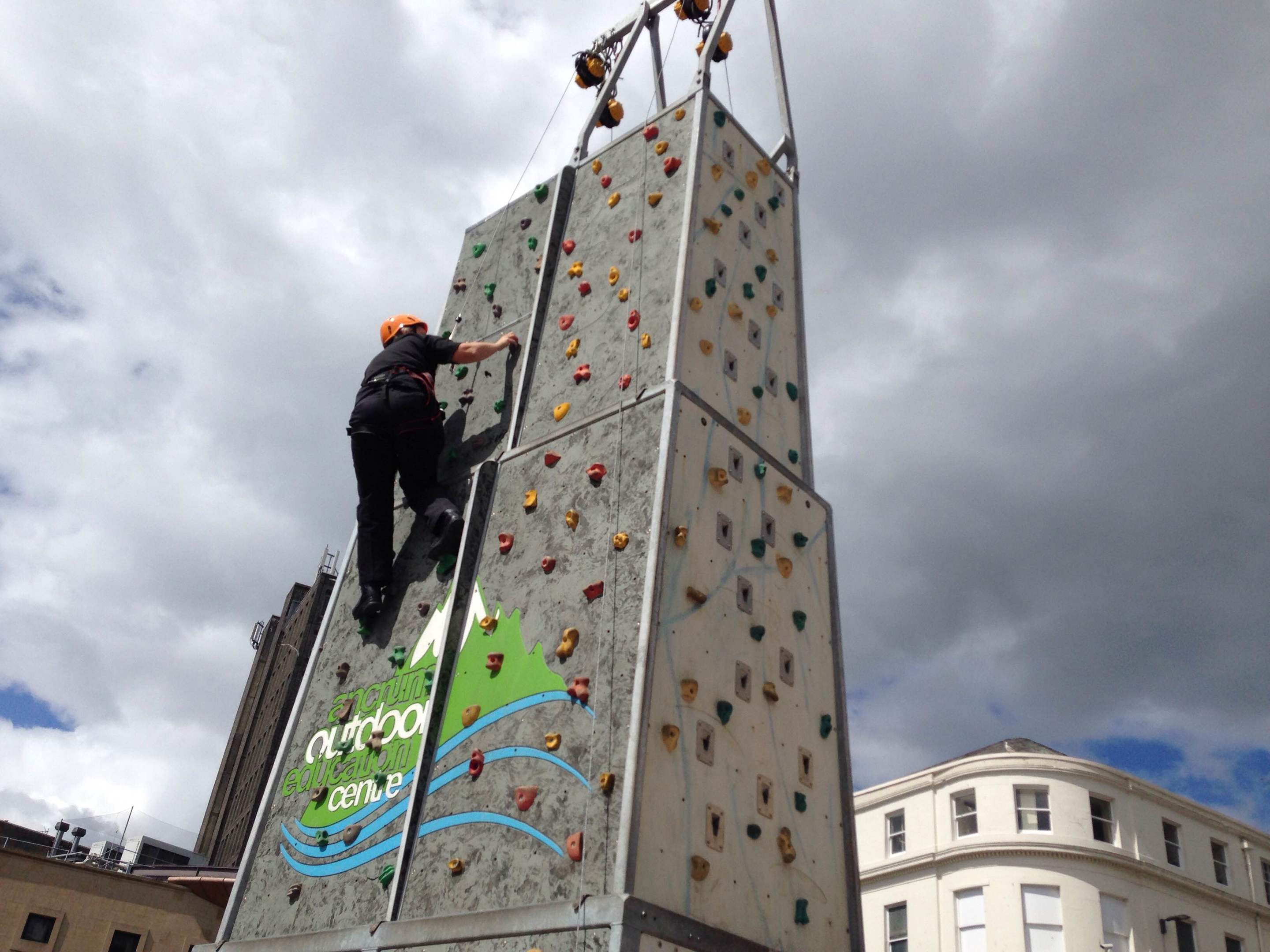 Inspector Cath Lannen takes on the climbing wall