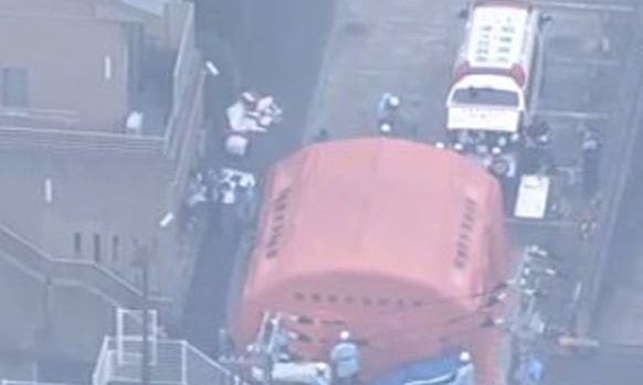 Social media image of attack on centre for disabled people in Sagamihara.