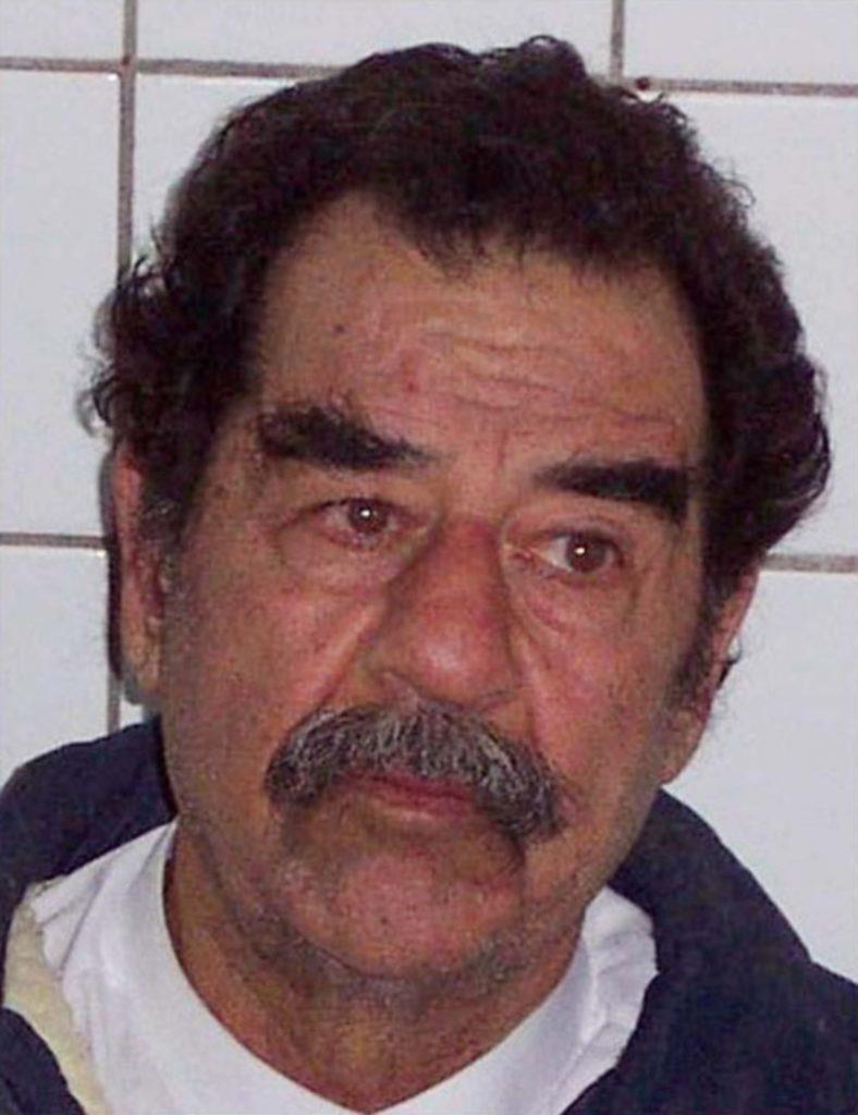 Former Iraqi leader Saddam Hussein following his capture.