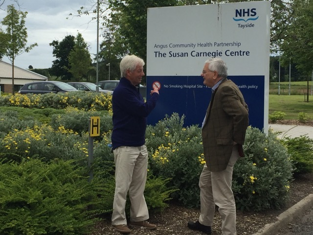 Mr May and Mr Rumbles at the Stracathro facility
