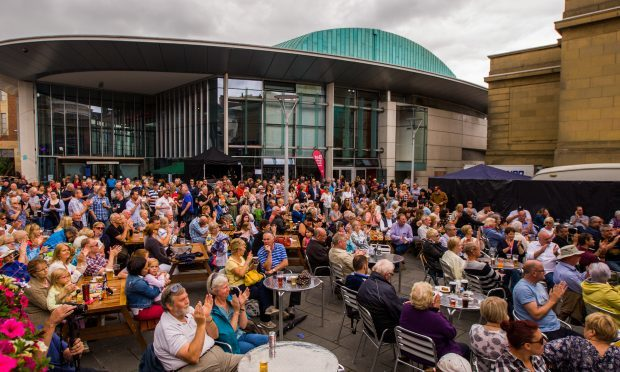 Crowds gather at Perth Concert Hall for last year's Southern Fried Festival.