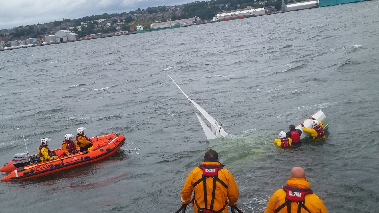 Dundee Sailing Club rescue at Broughty Ferry.