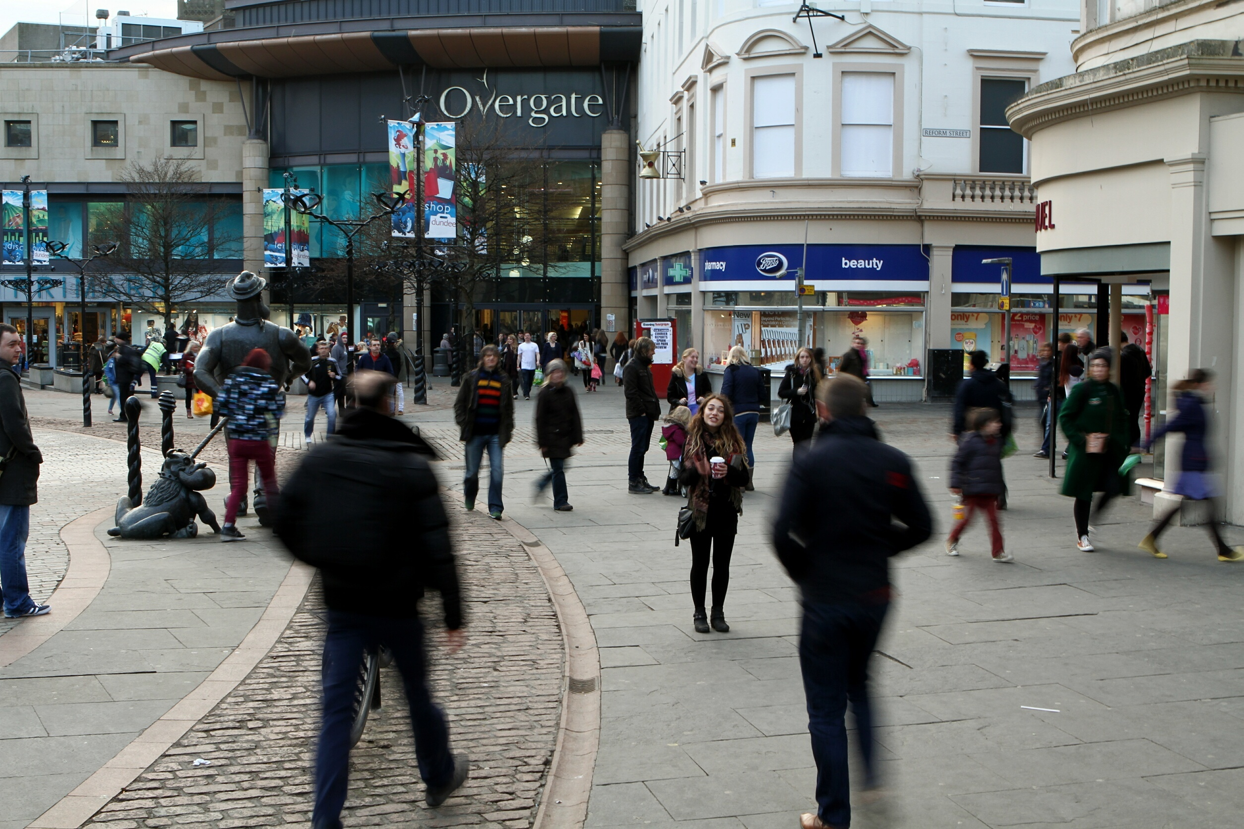 Shoppers in Dundee city centre.