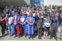 Students and staff from Dundee University's summer school programme