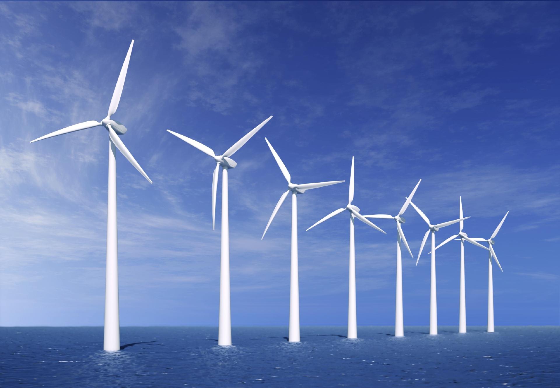 An offshore wind farm near Denmark