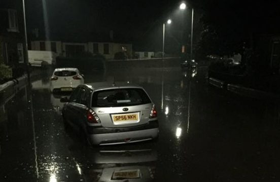 The storm hit Arbroath just before 3am.