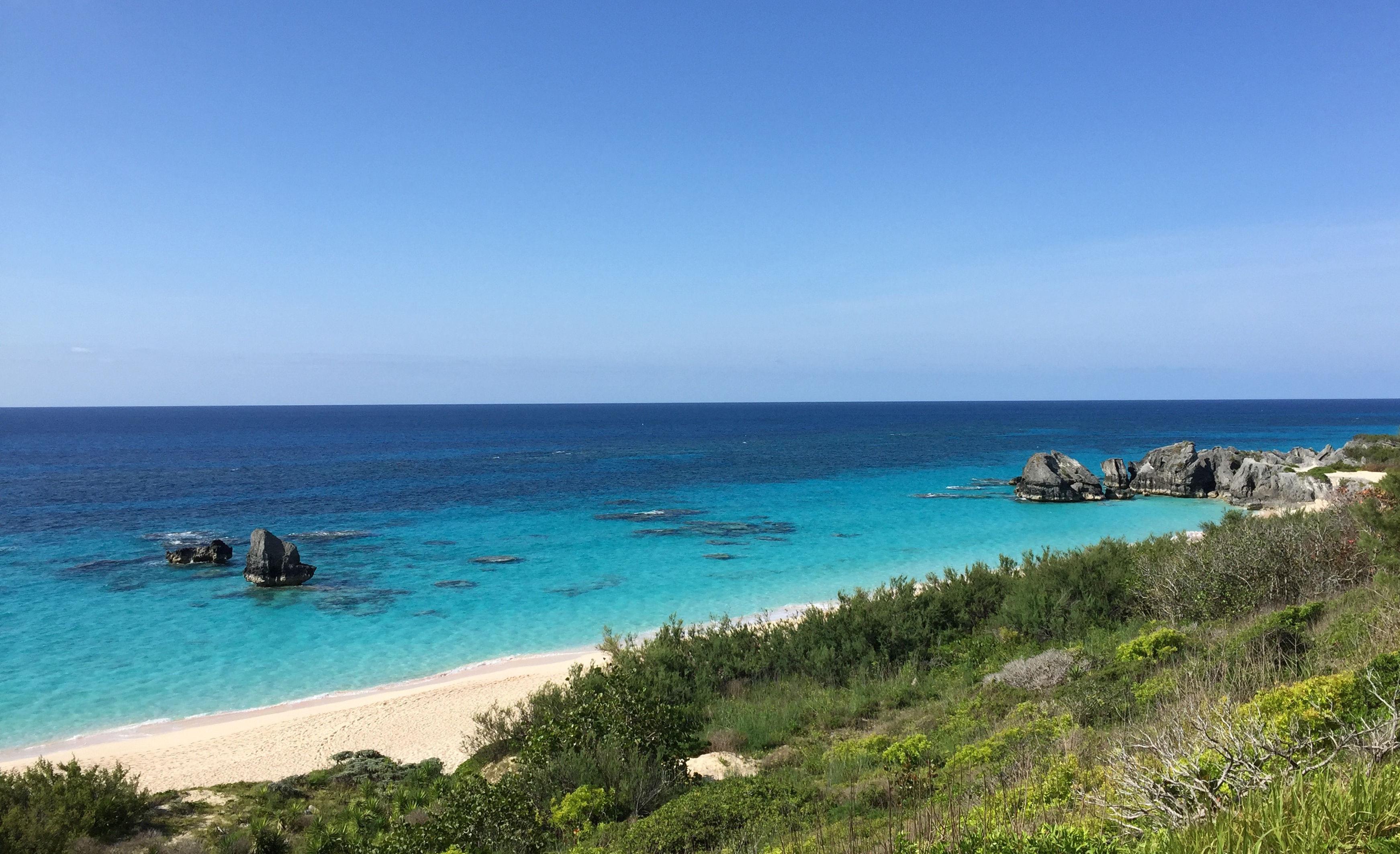 The beach in Bermuda.