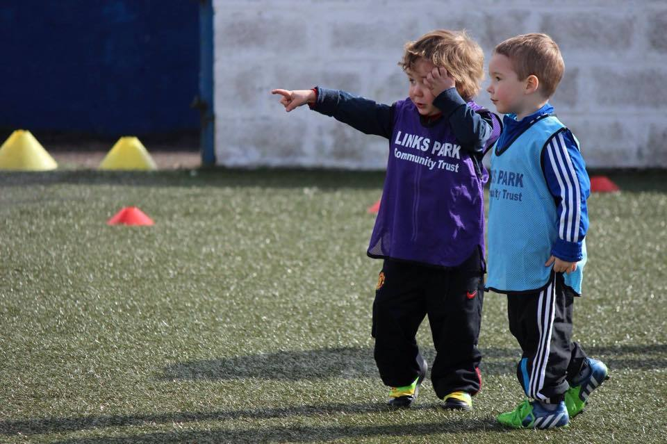 Children at play during a Links Park Community Trust session