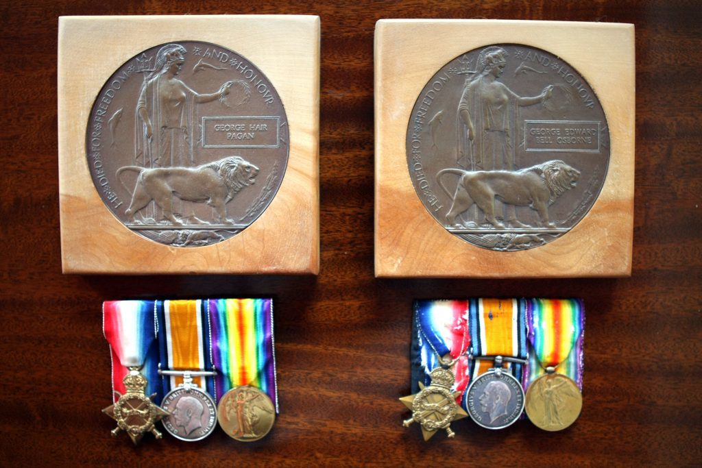 George Hair Pagan and George Osbornes Dead Man's Pennies and medals