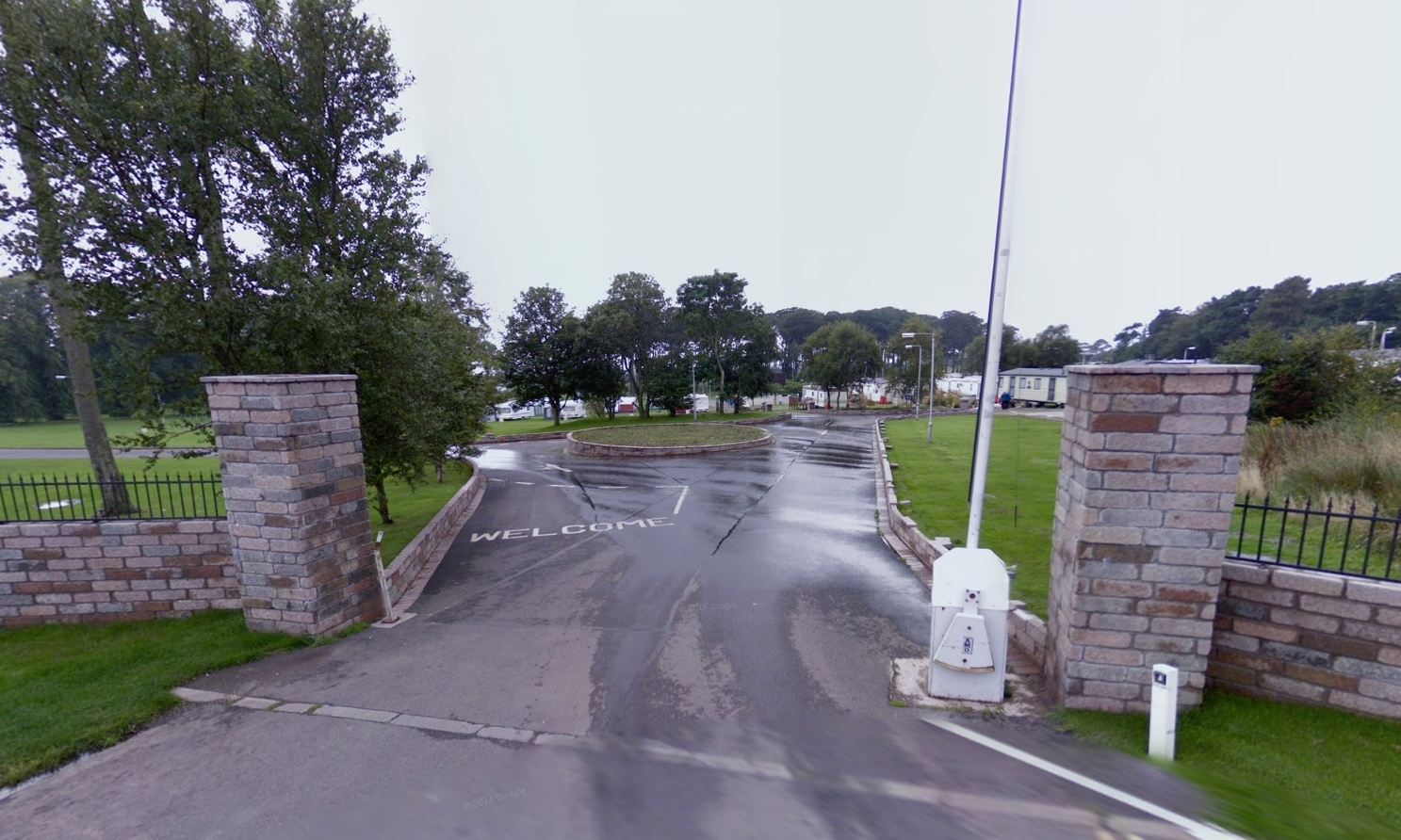 The entrance to the Seaton Estate holiday park.