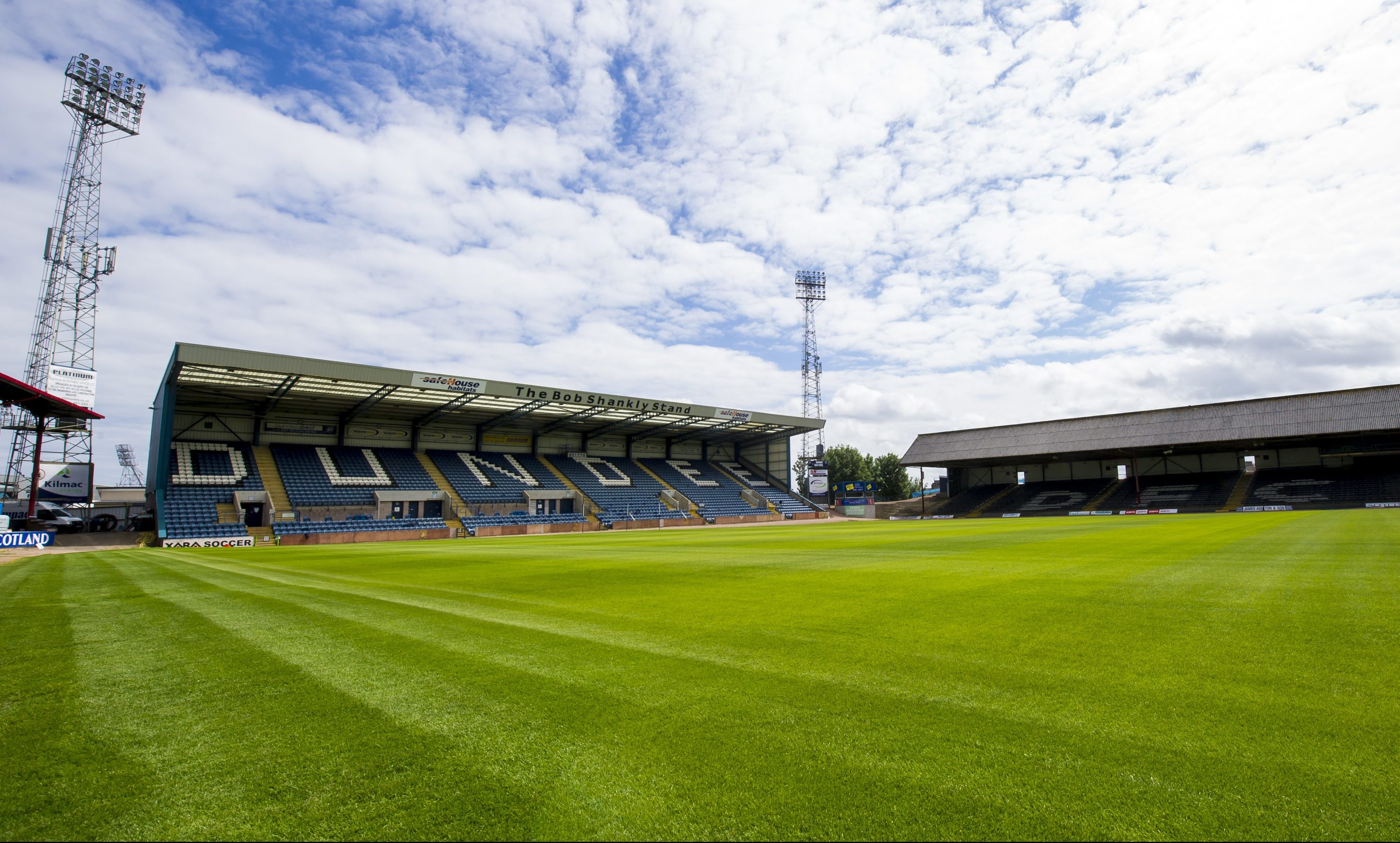 Dens Park — surrounding properties are rocketing in value.