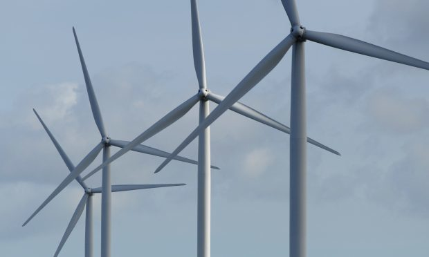 Kim Cessford - 10.03.14 - FOR FILE - pictured is part of the Little Raith Wind Farm, Cowdenbeath