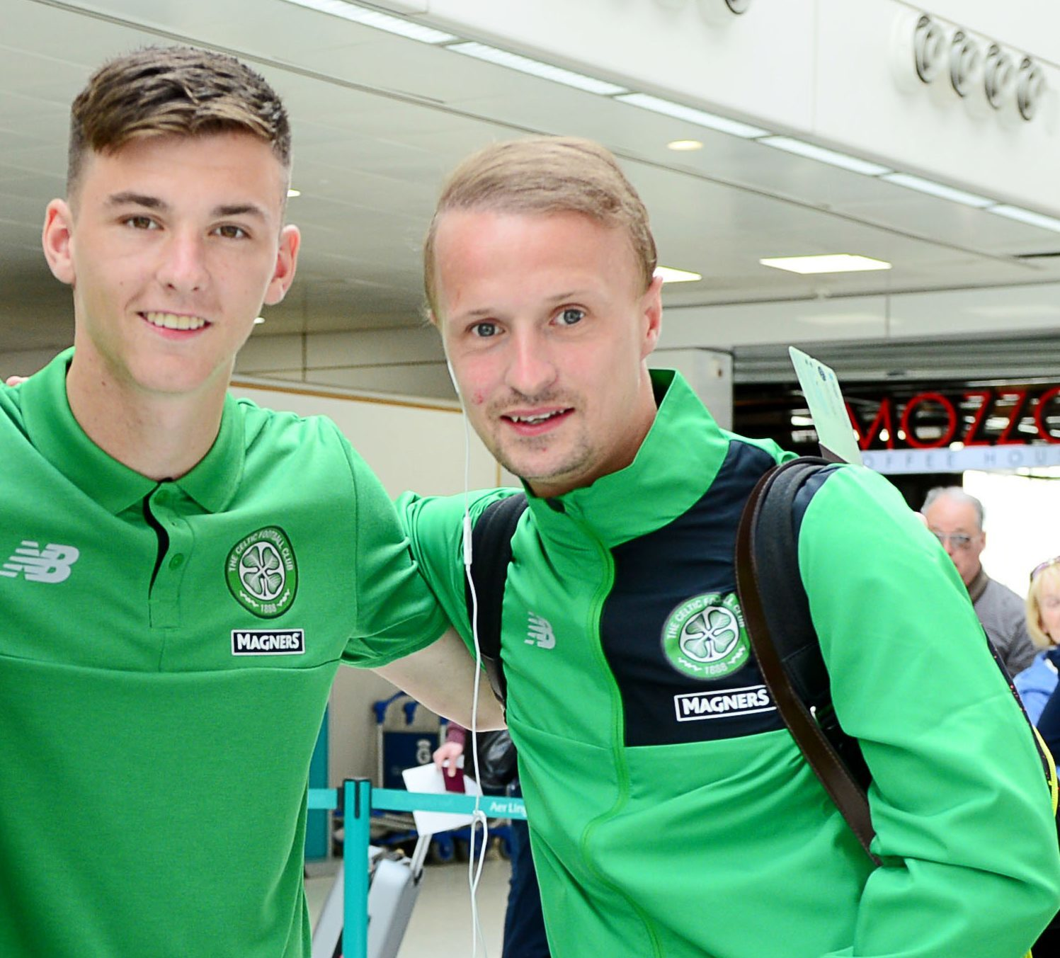 Kieran Tierney and Leigh Griffiths.