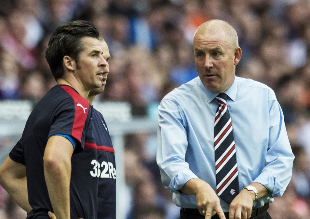 Joey Barton and Mark Warburton in the days when they were on speaking terms.
