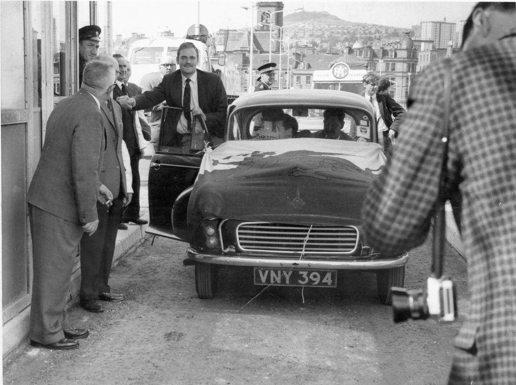 Hugh Pincott - the first member of the public to cross the Tay Road Bridge after the official opening by the Queen Mother