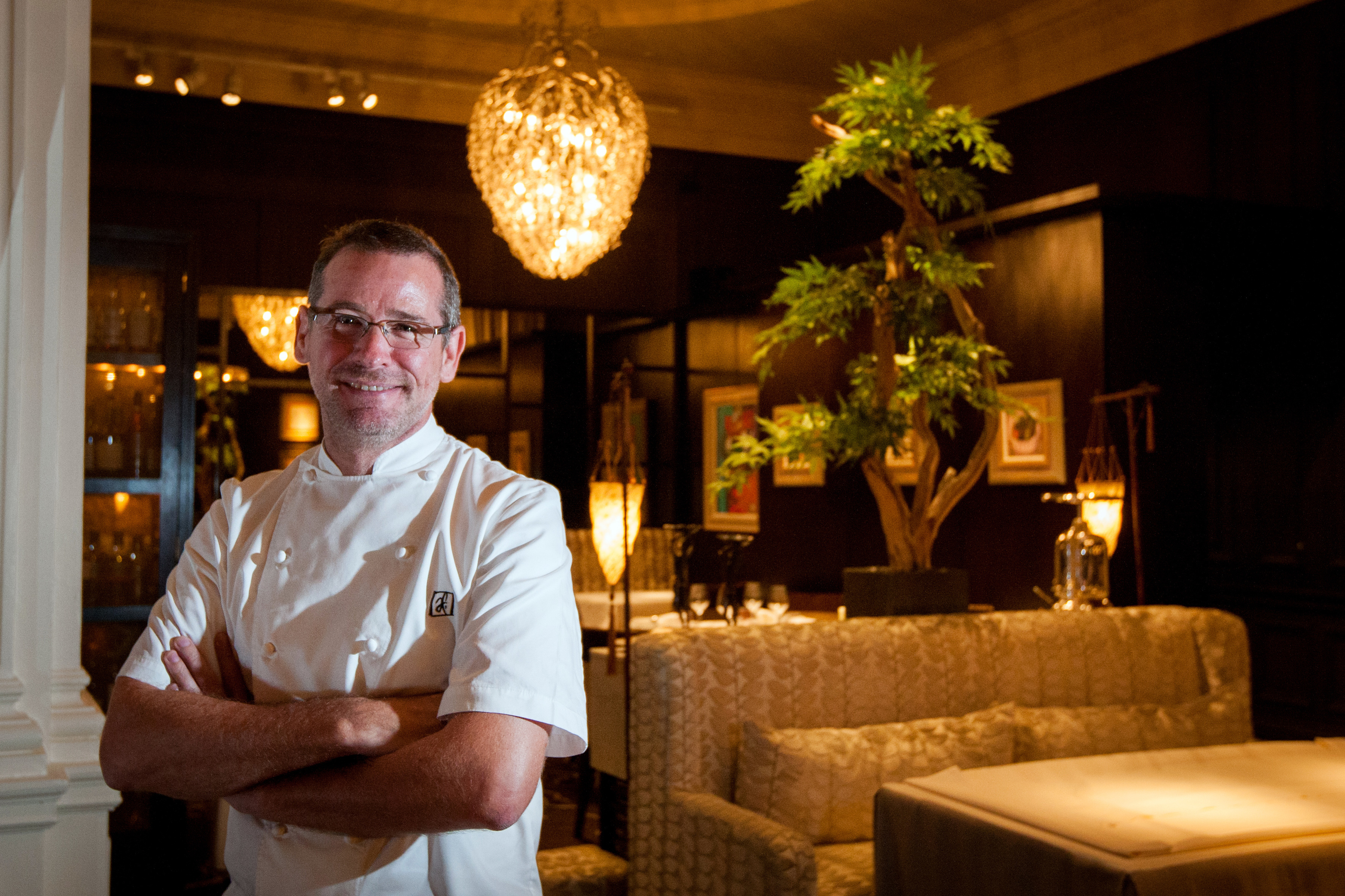 Chef Andrew Fairlie in his restaurant.