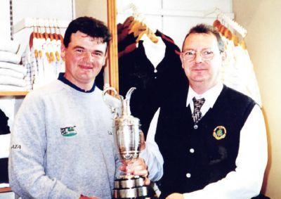 Late Carnoustie caddie Martin Roy with 1999 Open winner Paul Lawrie