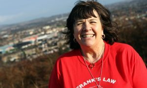 Frank's Law campaigner Amanda Kopel cut the ribbon on the new garden