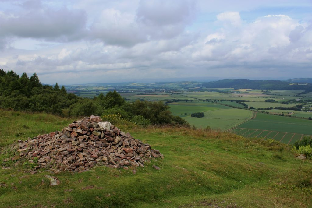 4 - View north across Strathearn from site of fort on Castle Law - James Carron, Take a Hike