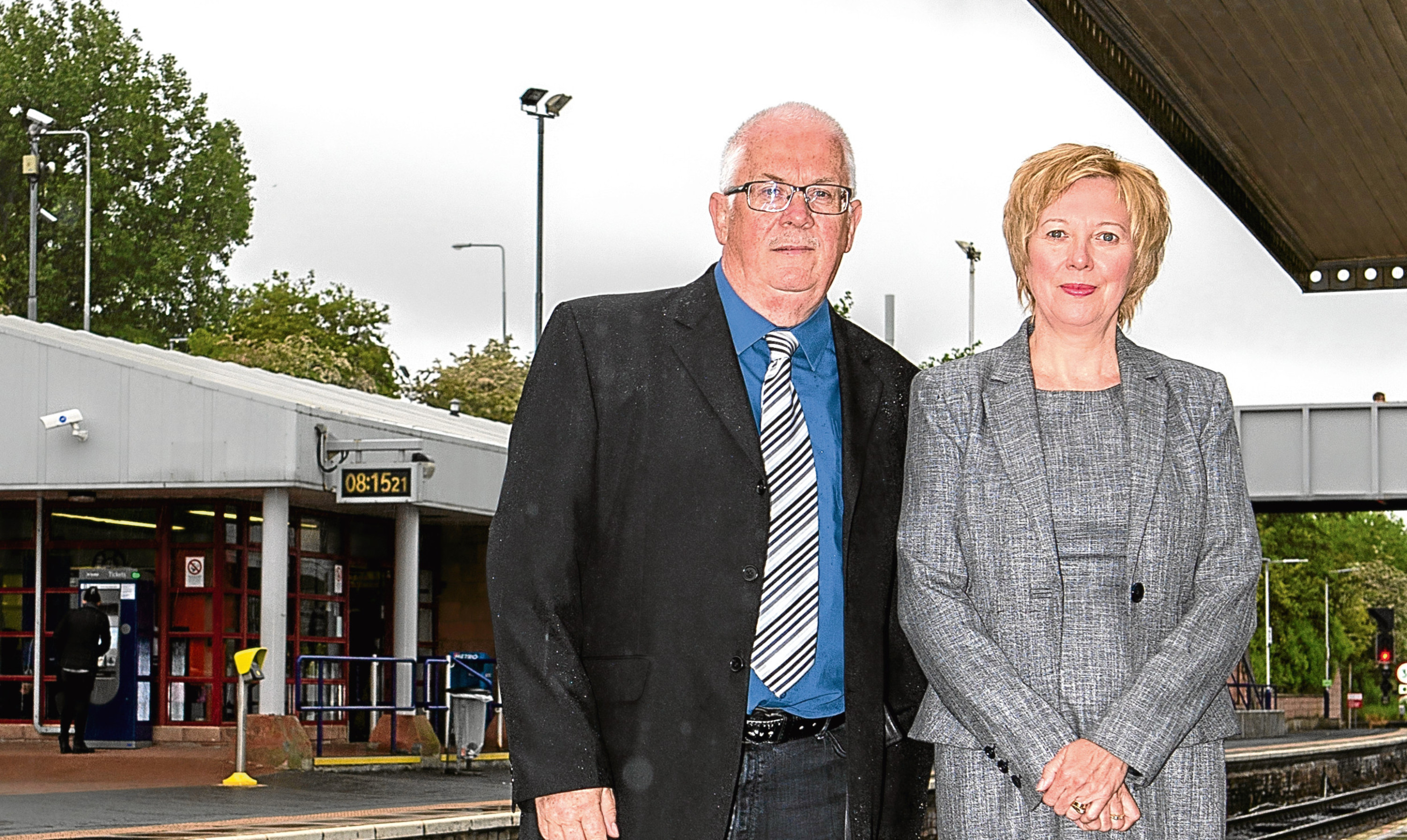 Councillor Pat Callaghan and Councillor Lesley Laird have been campaigning for fairer rail fares.