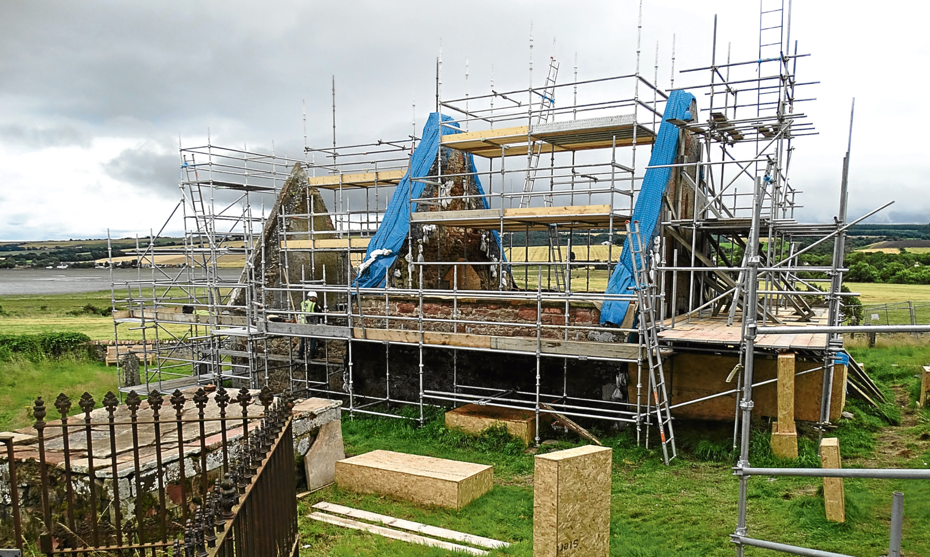 The old kirk of Kirkmichael in the Black Isle awaiting its new roof.