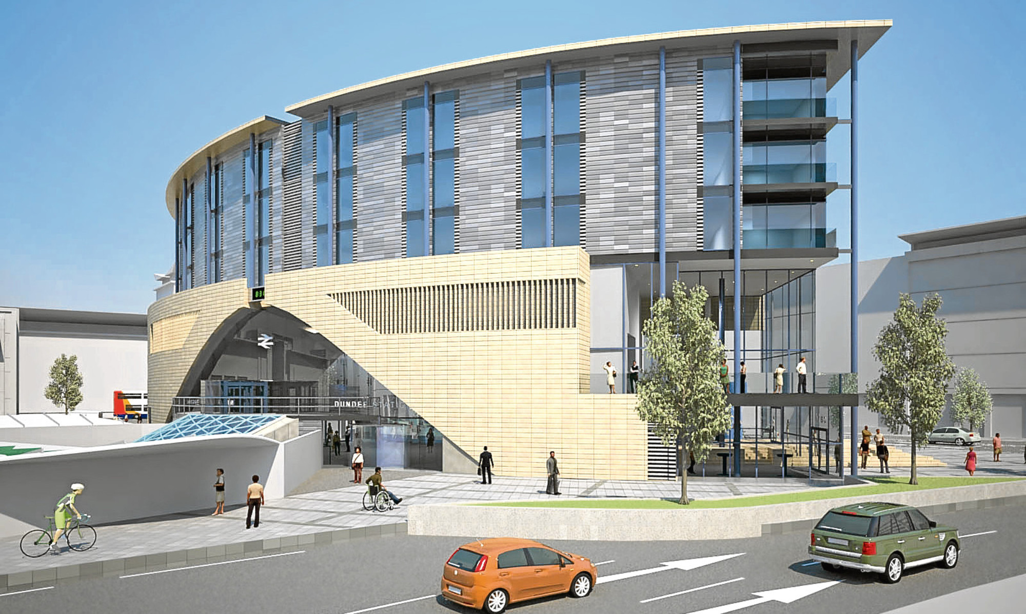 An impression of how Dundee railway station will look once the redevelopment is completed