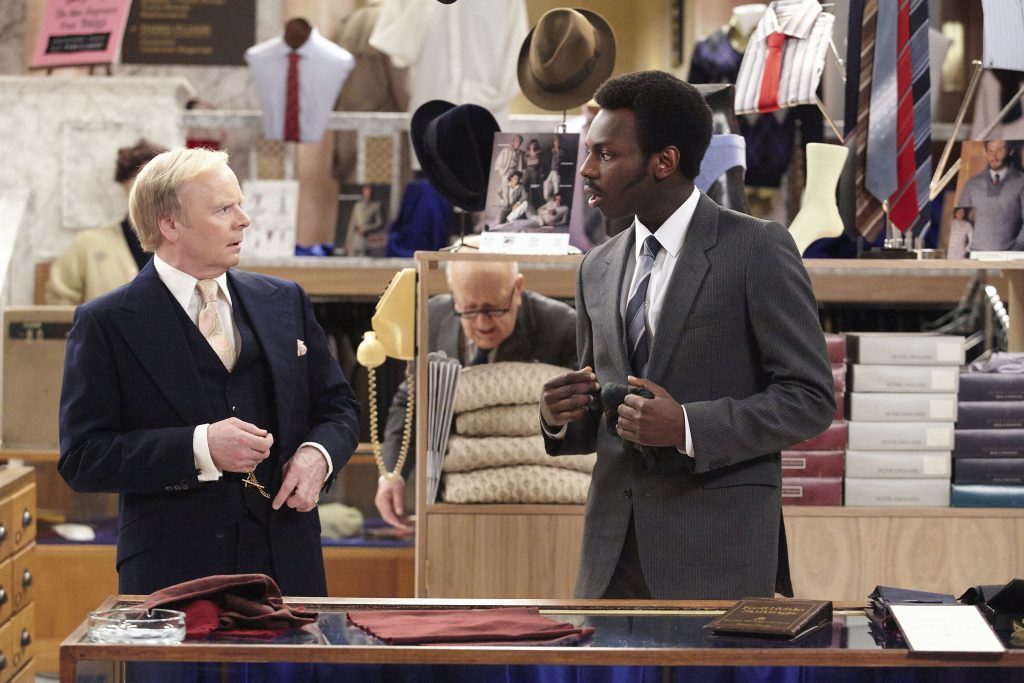 Are You Being Served? Picture Shows: Mr Humphries (Jason Watkins), Mr Conway (Kayode Ewumi)