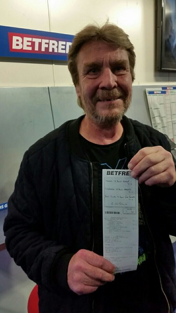 Steve Sales, winner of the £57,990.20 bet.