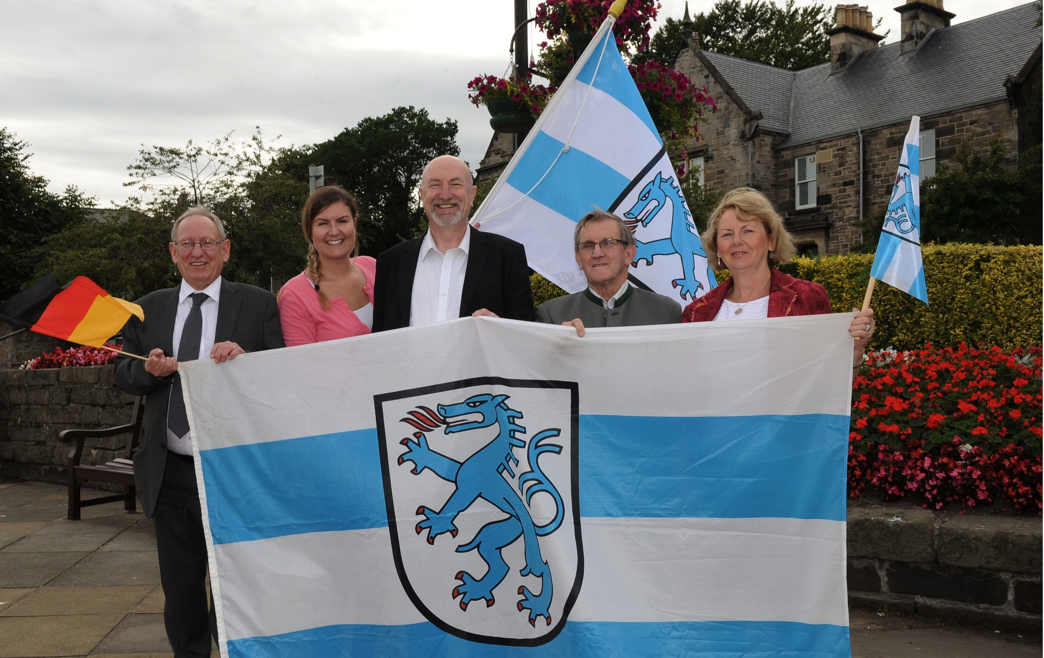 Robert Main from the Kirkcaldy Ingolstadt Association, left, with Linda Pearce, Cllr Neil crooks, Jim Cooper and Joey Cottrell.