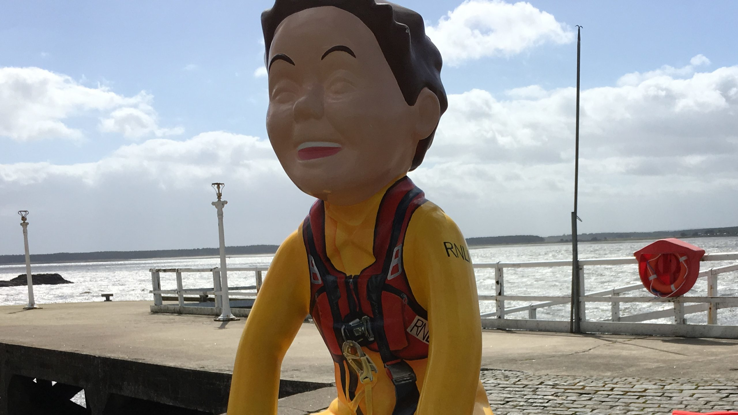 The Oor Lifesaver statue, nicknamed Stormy Stan by Broughty Ferry residents.