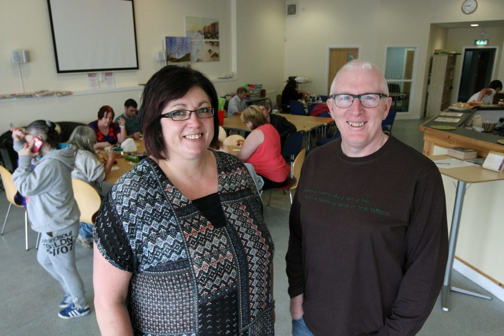 Tracey McLeod and Martin Fair in the Havilah premises in Arbroath