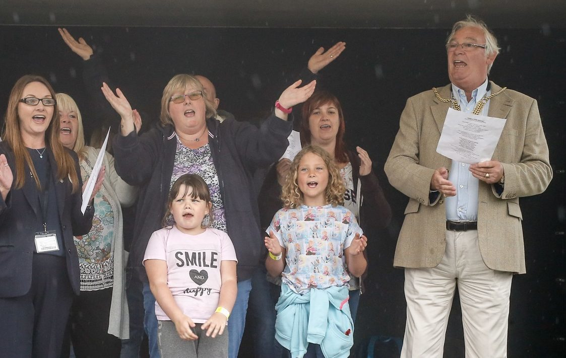 Provost Jim Leishman along with some of the foster carers and children in the choir.