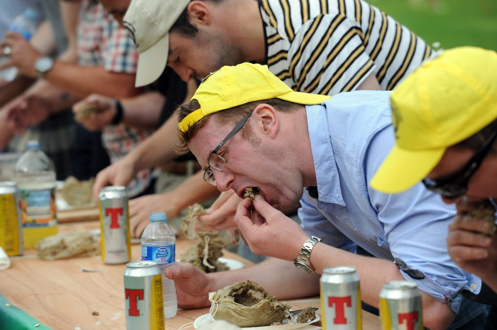 The Haggis Eating Championship gets under way