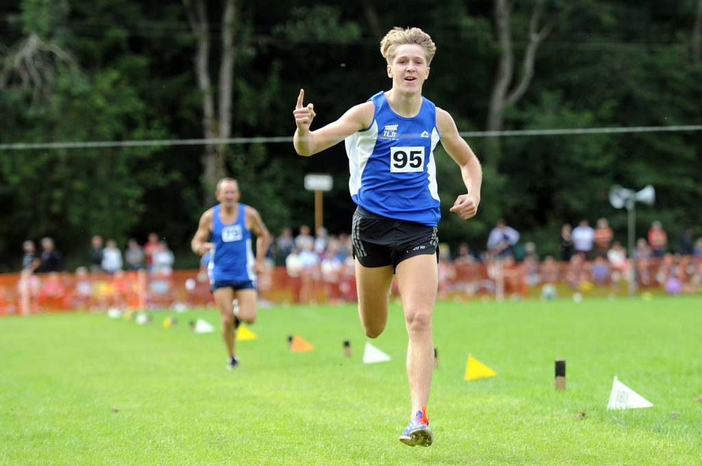 Matt Dougall on his way to win one of the long distance races
