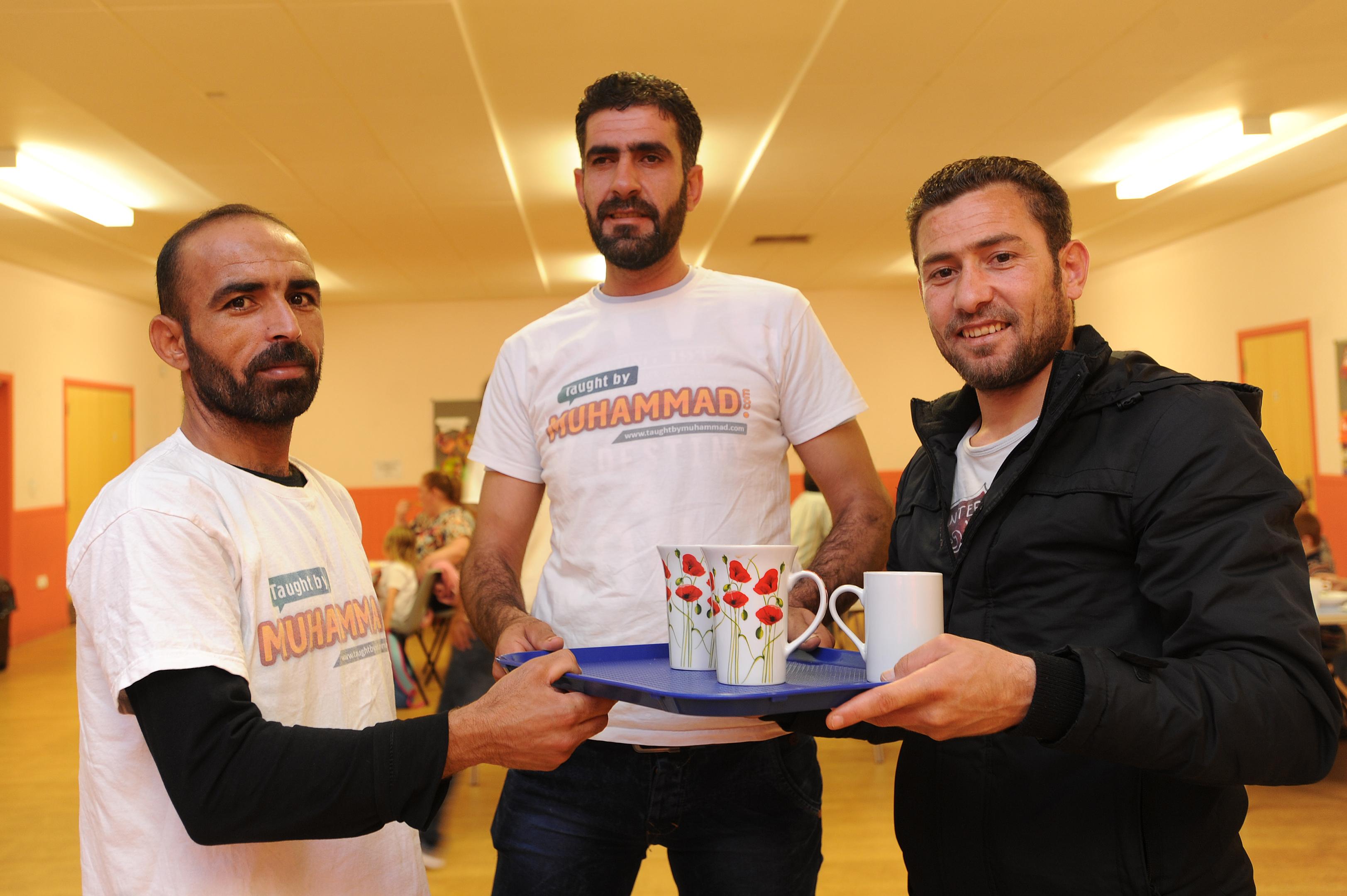 L-R: Imaad Zakariya, Tayseer Al-Balkhi and Thamer Humsi at Charleston Community Centre.