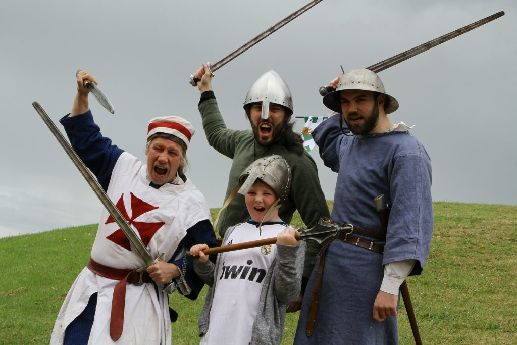 Knights of Monymusk at a recent medieval fayre in Monifieth