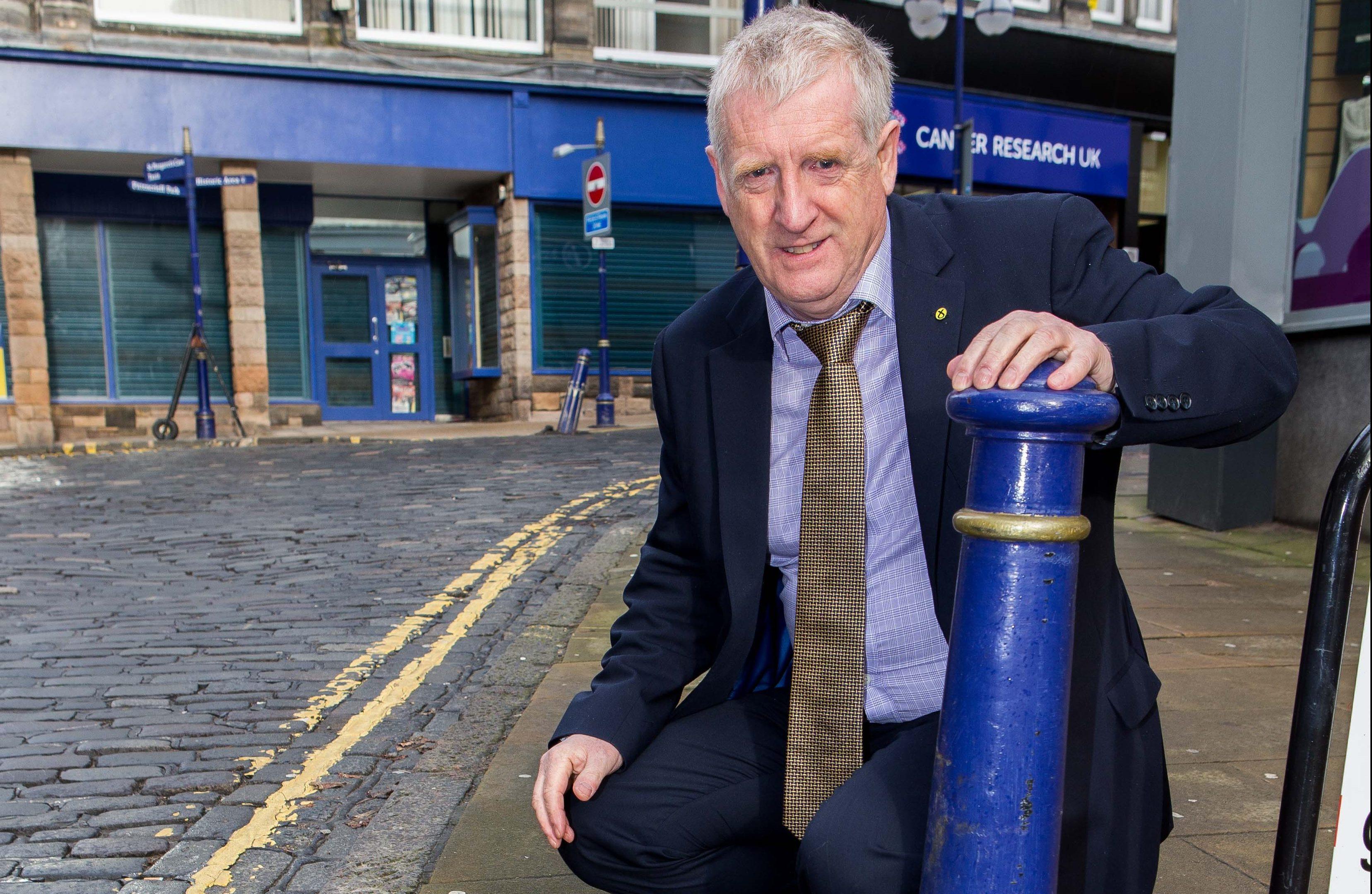 MP Douglas Chapman in Dunfermline.