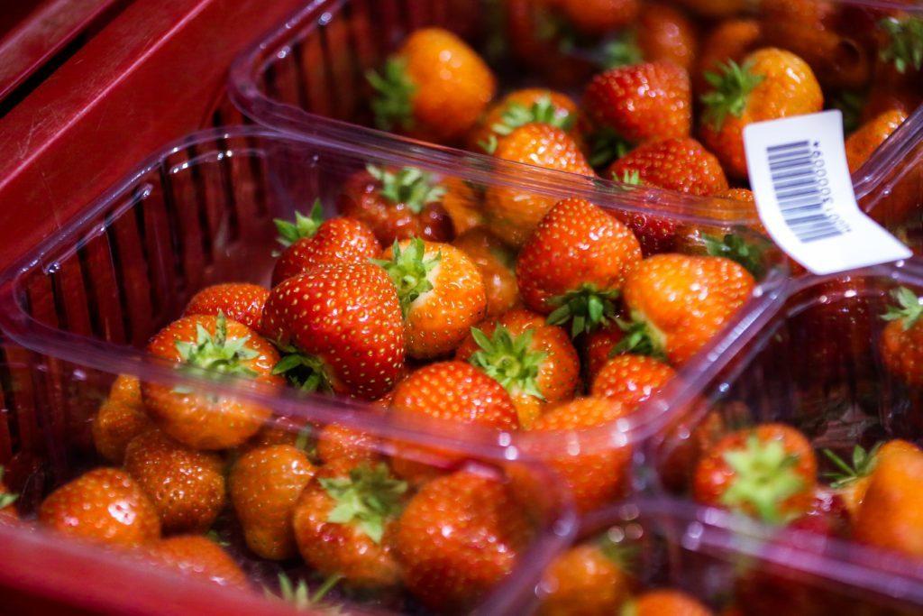 Succulent Scotty Brand strawberries.