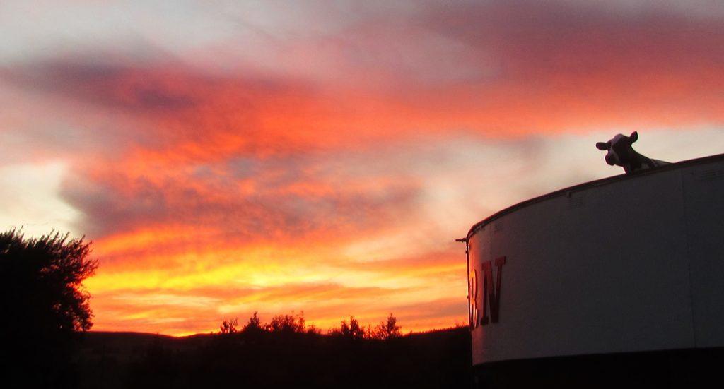 Sunset over The Horn Milk Bar