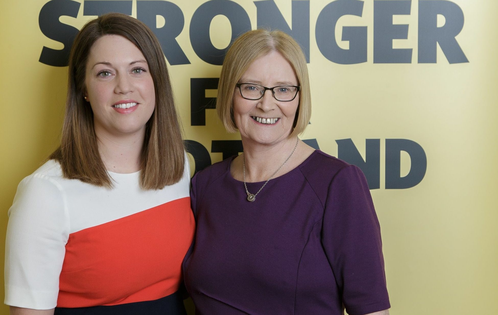 Tricia Marwick with her Glenrothes MSP successor Jenny Gilruth