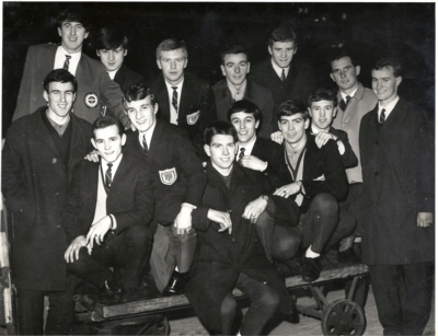 Jimmy Jack, back left, with the Arbroath squad in 1967.