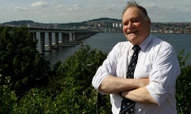 Hugh Pincott returns to the Tay Road Bridge 50 years after he made history by becoming the first member of the public to drive across