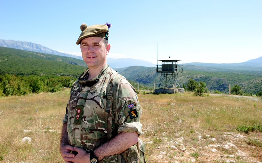 7 SCOTS Commanbding Officer, Lt Col Piers Strudwick at Red Earth.