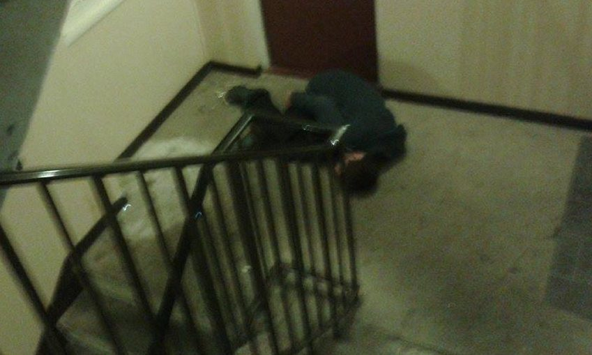 """The complainer said seeing the man collapsed outside his flat was """"the icing on the cake""""."""