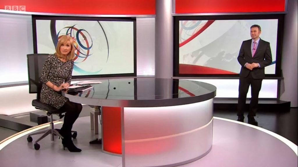 The BBC Reporting Scotland news room